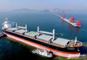Ship repair in Vissai port, Vietnam