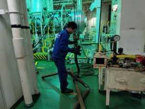 Sea water pipe repair