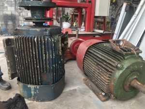 Rewinding electric motor