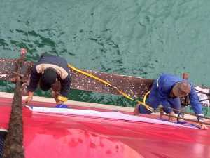 PAINTING THE SHIP NAME IN HON GAI